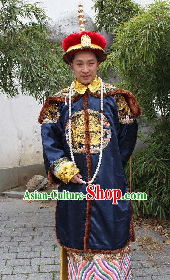 Chinese Ancient Official Costume and Hat Complete Set for Men