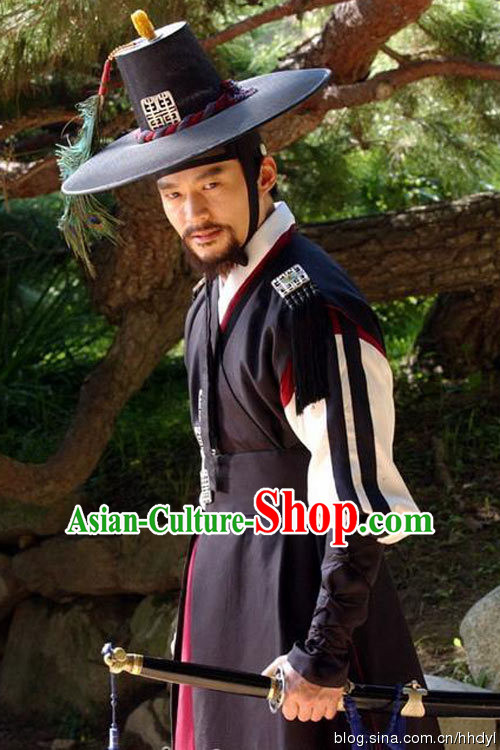 Ancient Korean Palace Bodyguard Costume for Men