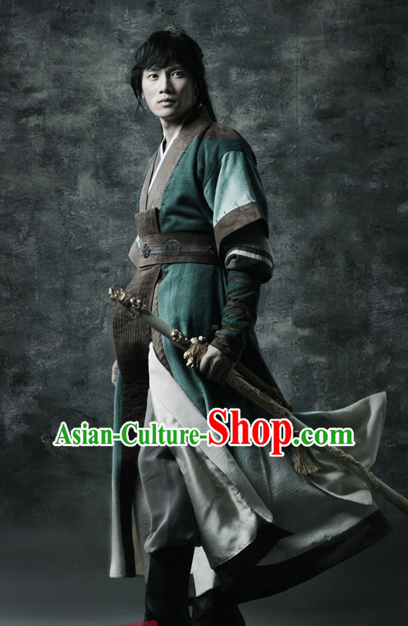 Ancient Korean General Costume and Hat Complete Set