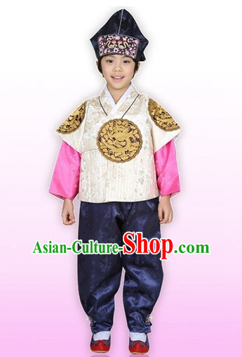 Korean Han Bok Clothes and Hat Complete Set for Children