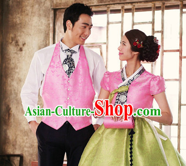 Korean Traditional Hanbok Suit for Husband and Wife