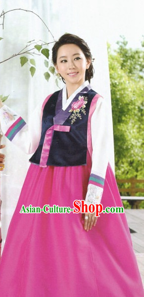 Korean Fashion Hanbok Tops and Skirt Complete Set for Women