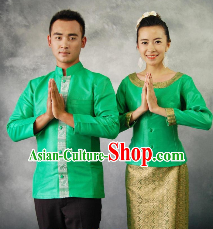 Thailand National Husband and Wife Clothing Dresses for Men and Women
