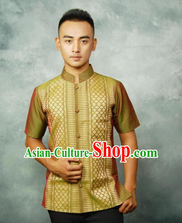 Traditional Thailand Customs Thai Shirt for Men