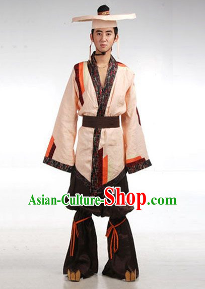 Ancient Monk Costume and Hat for Men