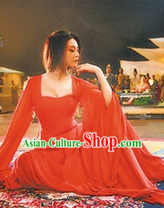 Chinese Classic Red Han Fu Outfit for Women