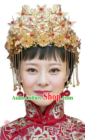 Asian Bridal Wedding Helmet Headwear