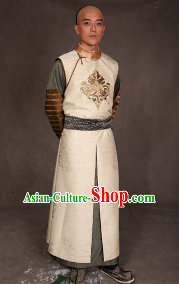 Qing Dynasty Gentleman Long Robe Clothes