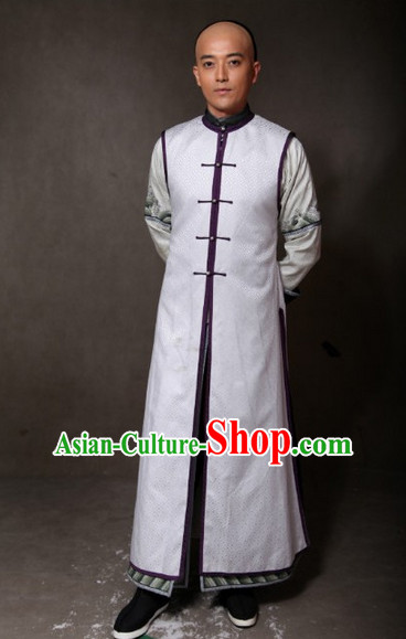 Qing Dynasty Long Robe for Men