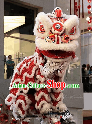 100_ Natural Wool Brand New Southern Lion Dance Costumes Complete Set