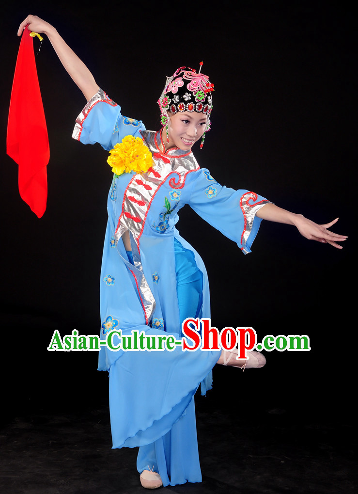 Handkerchief Dance Dresses and Headwear Complete Set for Women