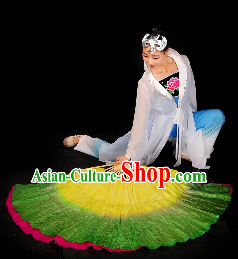 Group Fan Dance Dresses and Headwear Complete Set for Women