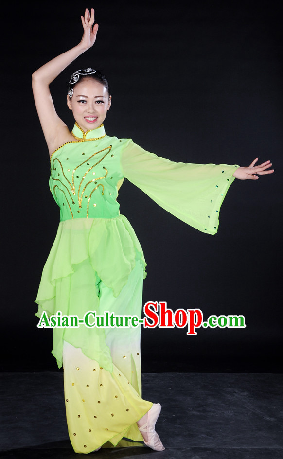 China Folk Dance Wear and Headpieces for Girl
