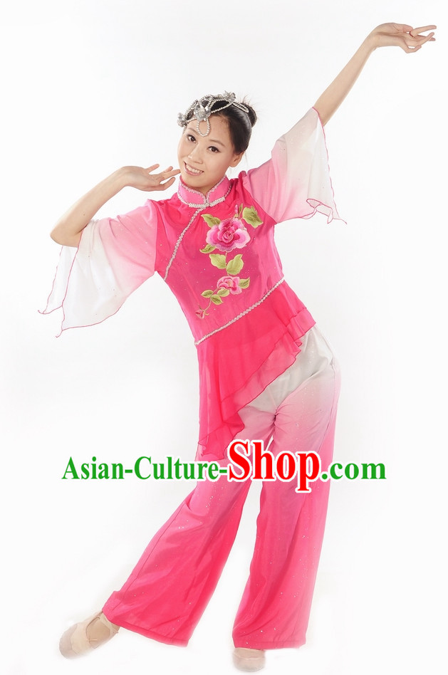 Group Dance Peony Dance Dress and Hair Decorations