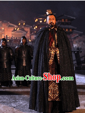 Ancient King Emperor Costumes and Head Piece for Men