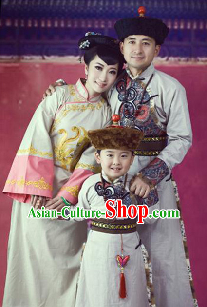Ancient Mongolian Traditional Clothing 3 Sets
