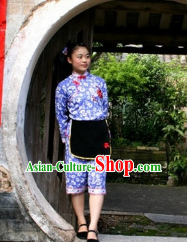 Traditional Chinese Hakka Female Folk Dance Costume