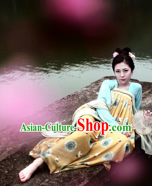 Tang Dynasty Chinese Halloween Costumes Plus Size Dresses online for Women