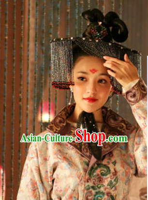 Handmade Chinese Tang Dynasty Princess Style Hat with Veil