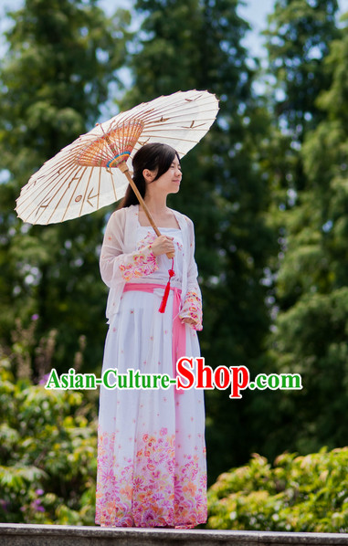 Chinese Ancient Plus Size Dresses and Umbrella Complete Set online Shopping