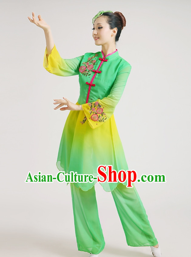 Chinese Competition Classicial Fan Dance Uniforms for Women