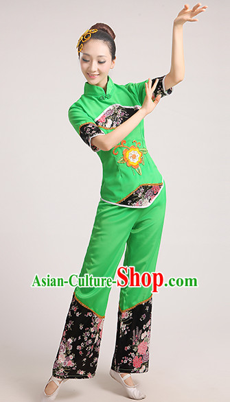 Chinese Competition Classicial Fan Dance Uniform for Women