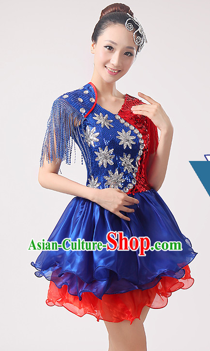 Chinese Classicial Fan Dance Uniform for Women
