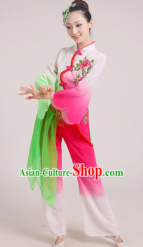 Chinese Folk Han Dance Fan Dance Costume for Women