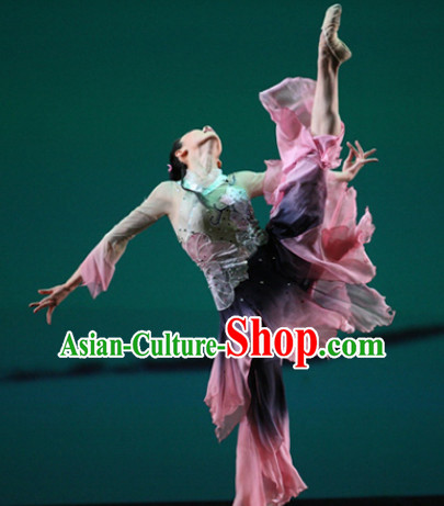 Chinese Classical Lotus Dance Costume Uniforms for Women