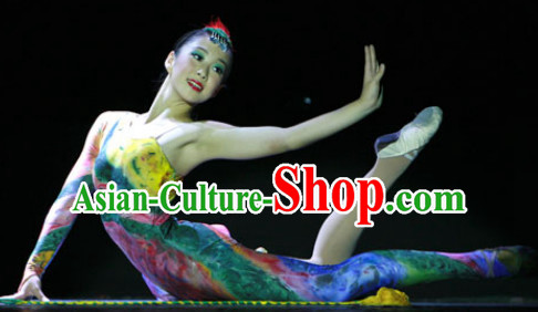 Chinese Competition Gymnastics Leotards Dance Clothes Costume Uniforms for Women