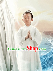 Chinese White Fairytale Kids Hanfu Costume Complete Set