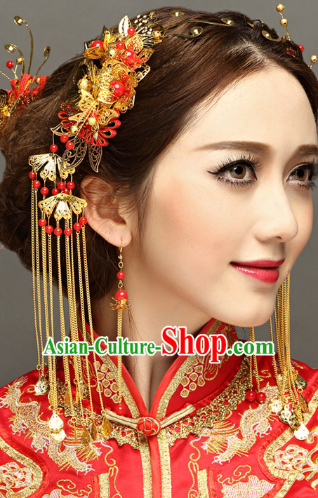 Traditional Chinese Bridal Hair Jewelry