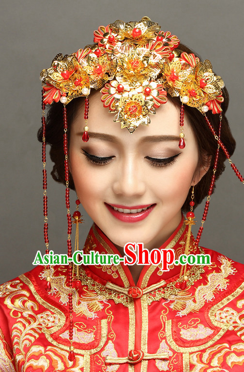 Traditional Chinese Bridal Wedding Hair Decorations