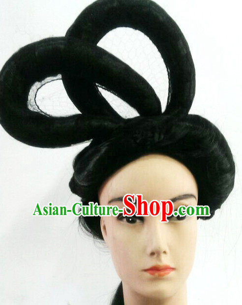 Chinese Classicial Lady Hair extensions Wigs Fascinators Toupee Long Wigs Hair Pieces Halloween Wigs