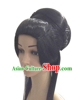 Chinese Ancient Princess Beauty Black Long Women Wigs