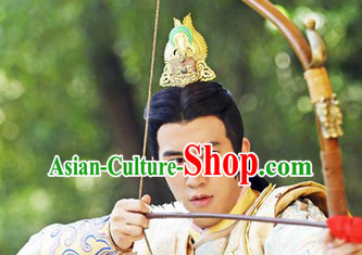 Chinese Hanfu Prince Wigs and Coronet for Men