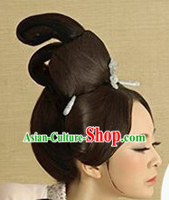 Chinese Ancient Female Black Wigs