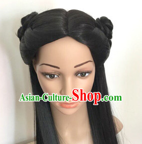 Chinese Ancient Wigs Hair Extensions Lace Front Wig Hair Pieces for Women