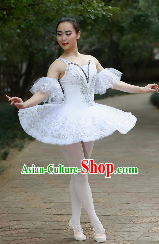 Chinese Custom Made Ballet Dance Costume Complete Set