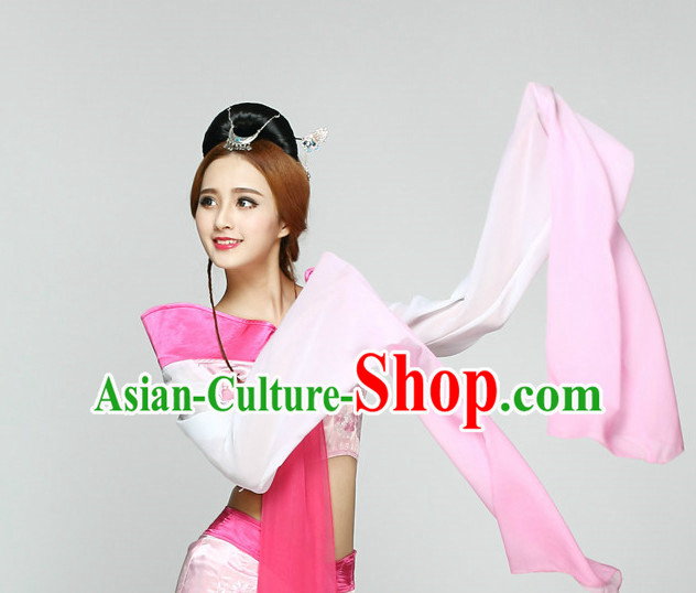 Pnik Long Sleeves Chinese Classical Quality Dance Costumes and Headdress Complete Set for Women