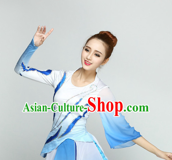 Top Chinese Quality Dance Costumes and Headdress Complete Set for Women