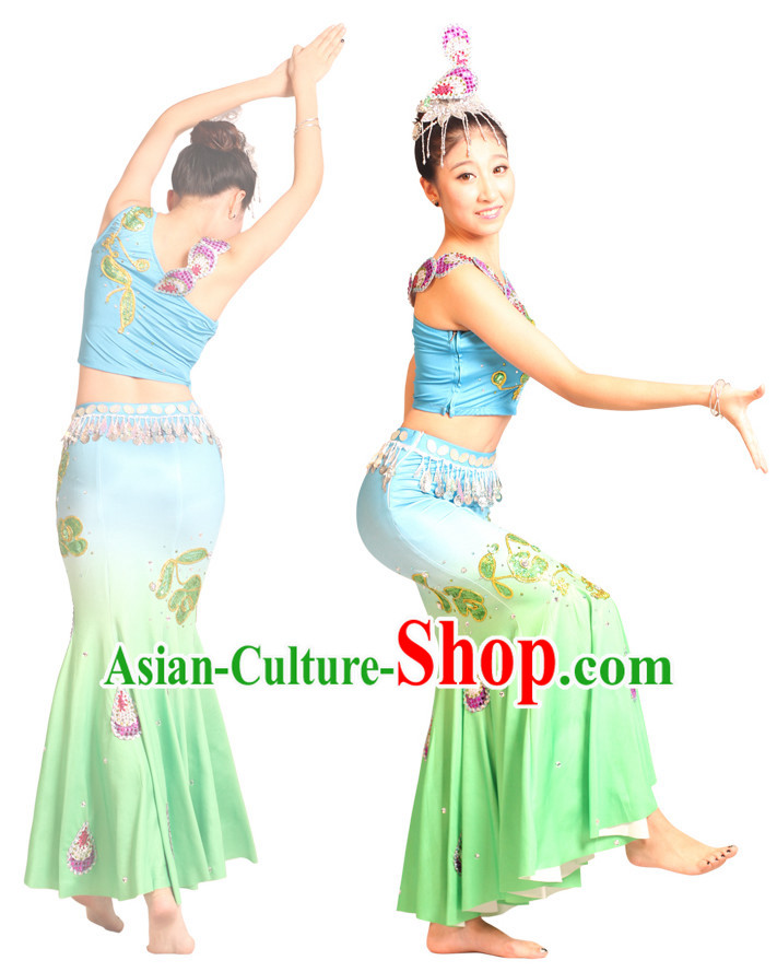 Chinese Teenagers Dai Dance Uniform for Competition