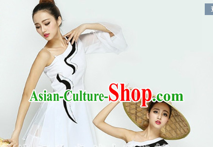 Chinese Quality Classical Dance Costume and Headwear Complete Set for Girls