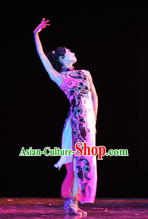 Chinese Qipao Dance Costumes Dancewear Discount Dane Supply Clubwear Dance Wear China Wholesale Dance Clothes for Women