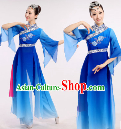 Chinese Fan Dance Costumes Dancewear Discount Dane Supply Clubwear Dance Wear China Wholesale Dance Clothes for Women