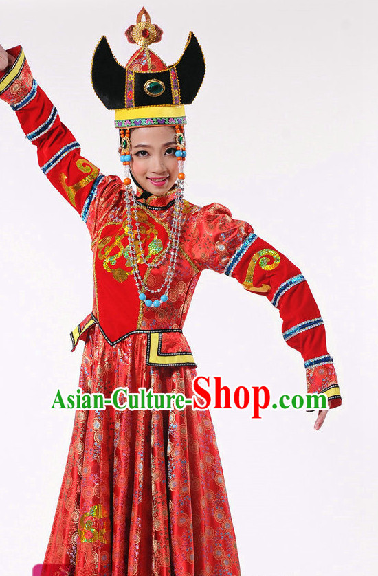 Chinese Mongolian Dance Costume Dancewear Discount Dane Supply Clubwear Dance Wear China Wholesale Dance Clothes for Girls