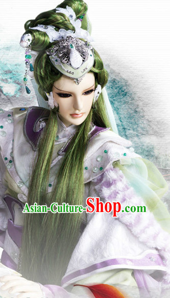 Chinese Ancient Hairstyles Hair Extensions Wigs Hair Lace Front Wigs Pieces Hair Accessories Set
