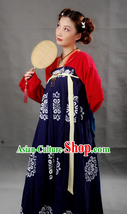 Chinese Female Tang Dynasty Hanfu Costume Ancient Costume Traditional Clothing Traditiional Dress Clothing online