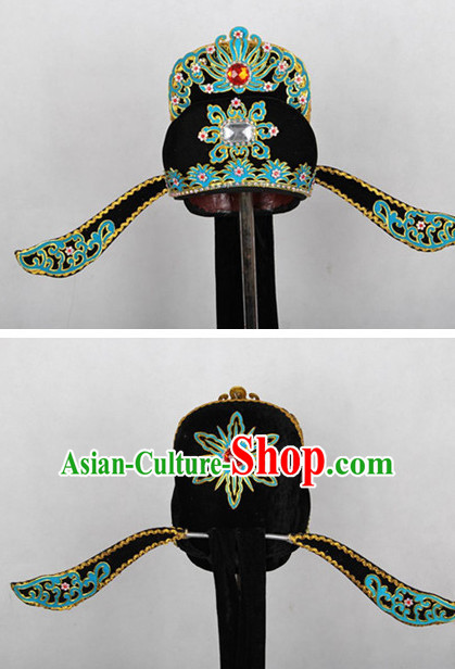 Chinese Hsiao Sheng Opera Headwear Headpieces Official Hat