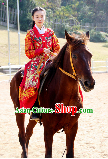 Chinese Ming Dynasty Red Clothing Outfits